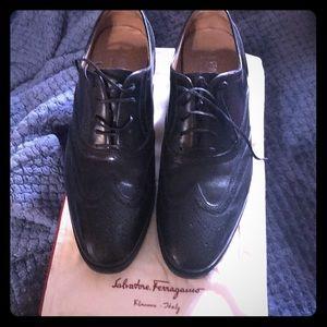 Men's Ferragamo wingtip shoes